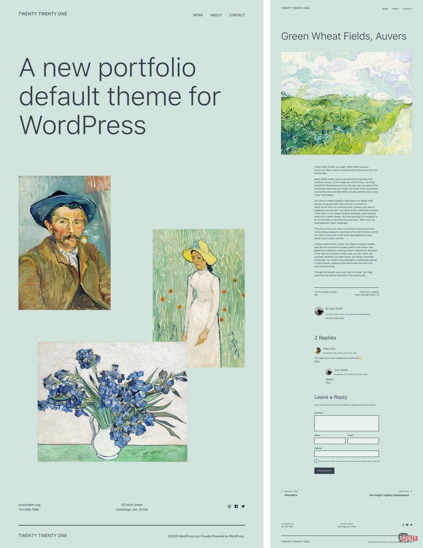 2021年WordPress 5.6 默认全新主题-牛魔博客