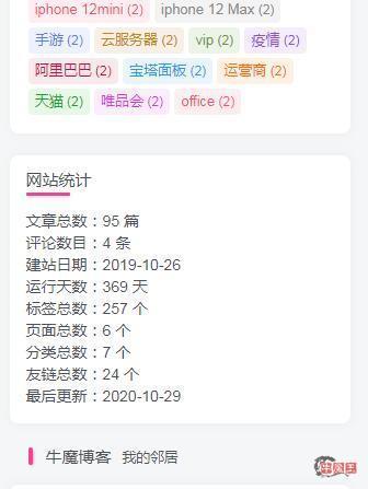 wordpress添加网站统计小工具-牛魔博客