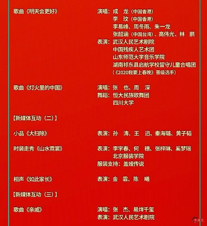 央视春晚节目单正式公布!春晚主持人名单公布 !-牛魔博客